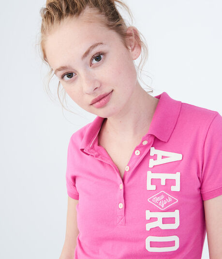 Vertical NY Aero Graphic Jersey Polo
