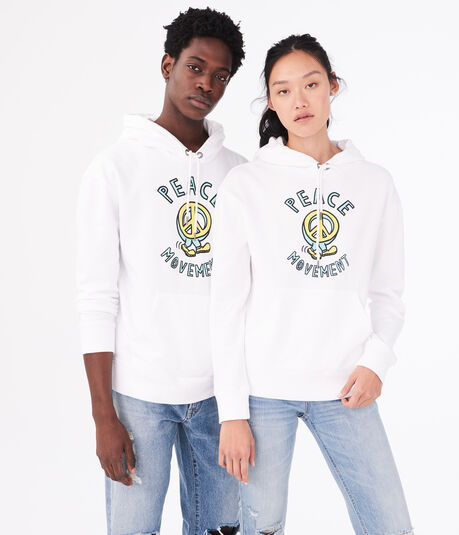 Aero One Peace Movement Pullover Hoodie