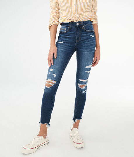 48fdf8131e5 Seriously Stretchy High-Waisted Crop Jegging ...