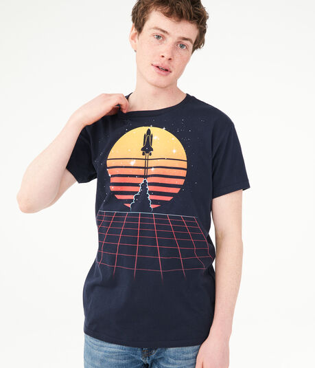 Free State Spaceship Launch Graphic Tee