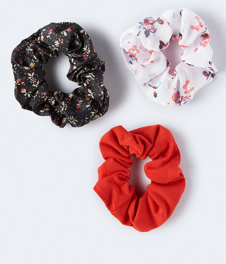 Floral Scrunchie 3-Pack