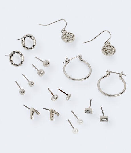 Geo Stud, Hoop & French Wire Earring 9-Pack