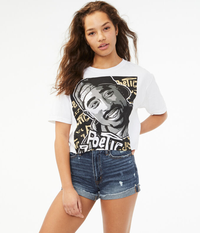 Poetic Justice Oversized Tupac Graphic Tee