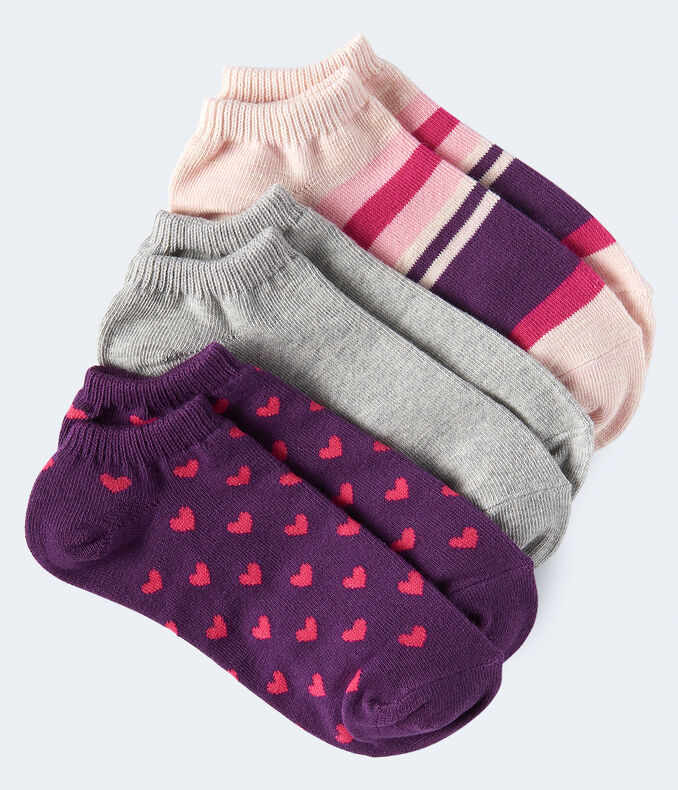 Hearts Ankle Sock 3-Pack