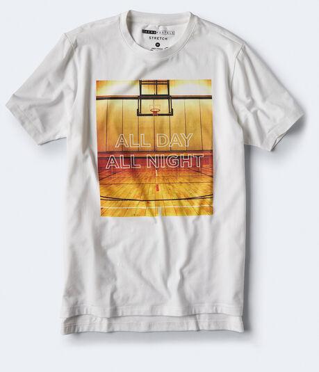 All Day All Night Stretch Graphic Tee