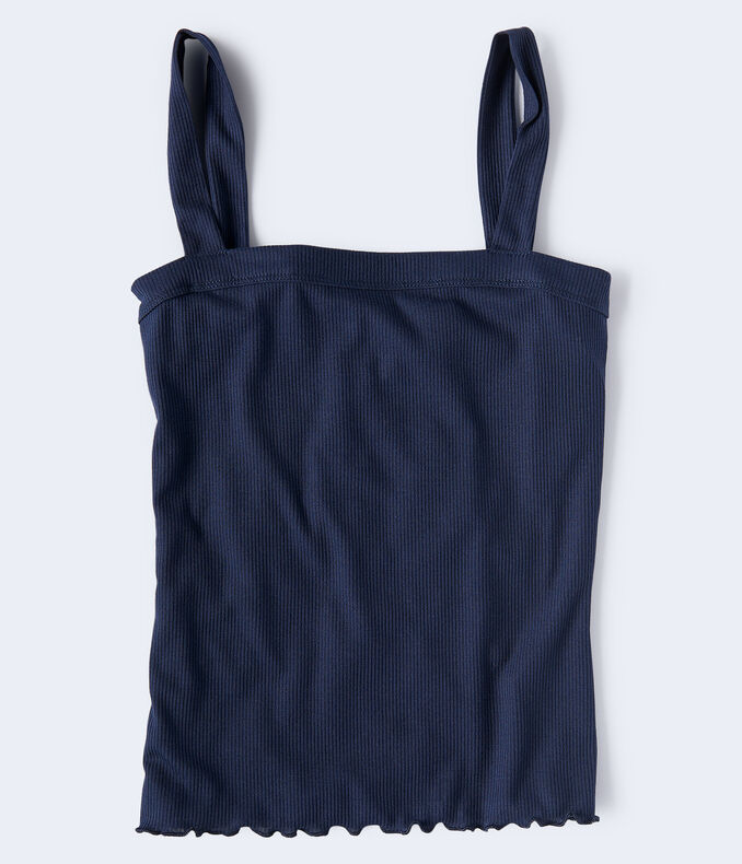 Seriously Soft Solid Square-Neck Tank