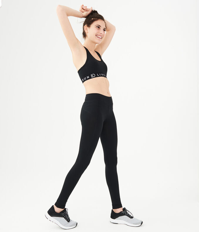 LLD Best Booty Ever Solid Black Leggings - Women's Leggings