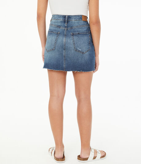 Real Denim High-Rise Mini Skirt