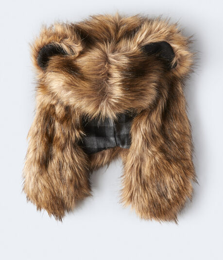 Bear Faux Fur Trapper Hat