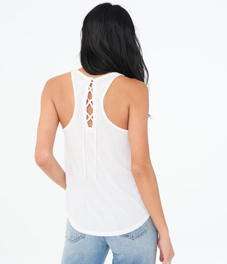 LLD Solid Laced-Back Tank***