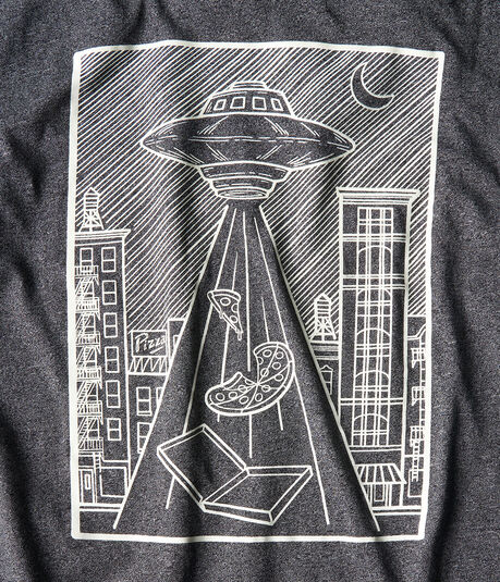 Free State UFO Pizza Glow-In-The-Dark Graphic Tee
