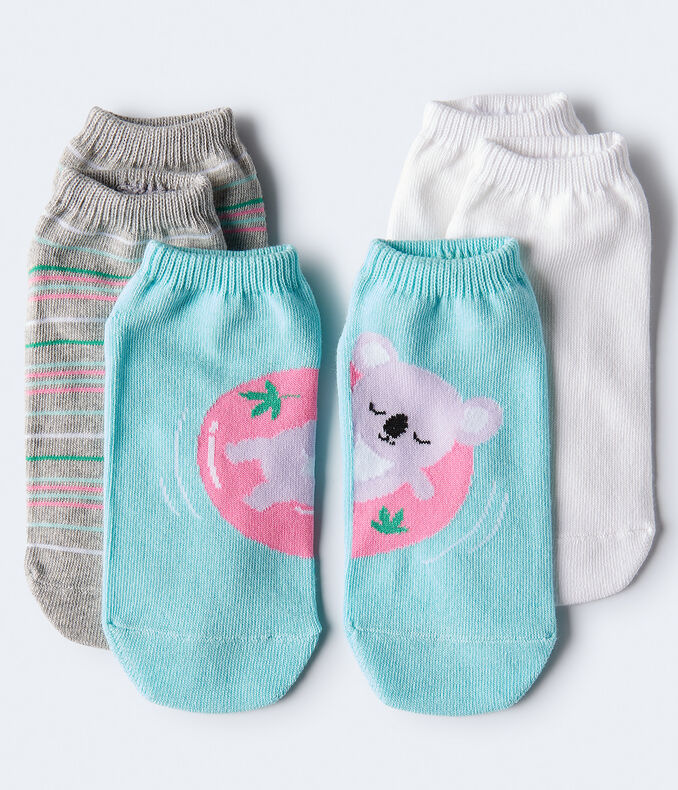 Pool Koala Ankle Sock 3-Pack