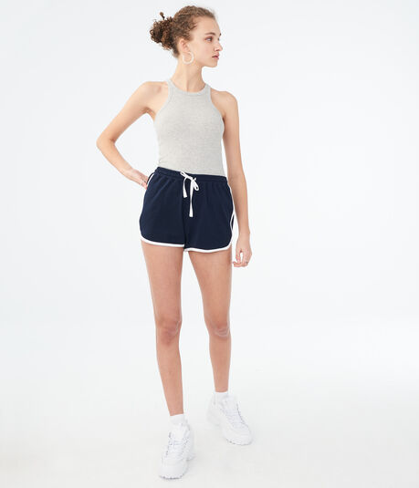 Solid Relaxed Retro Shorts
