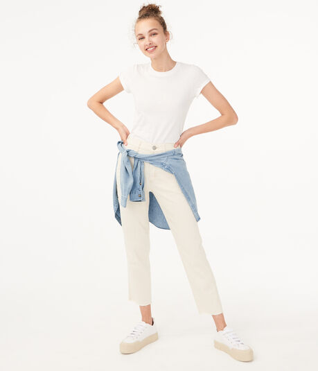 Real Denim High-Rise Cropped Carpenter Jean***