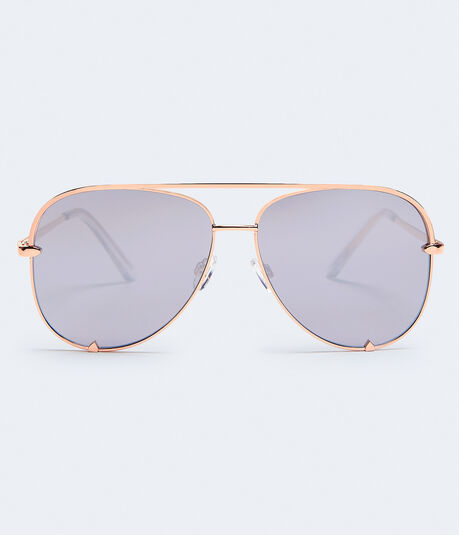 Flat Lens Aviator Sunglasses***