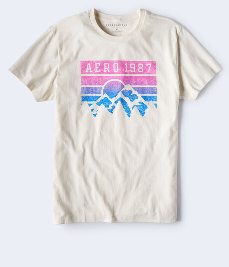 Aero 1987 Ombré Mountain Graphic Tee