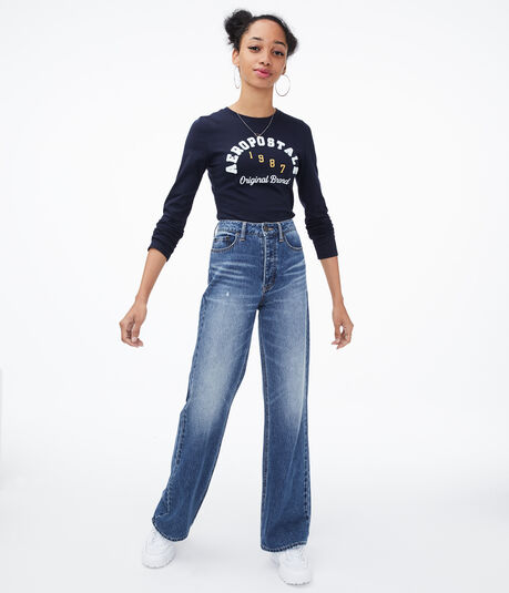 Long Sleeve Aeropostale Arch Graphic Tee