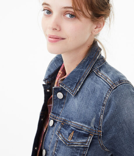 Seriously Stretchy Medium Wash Denim Jacket