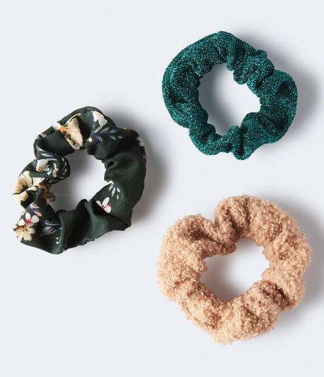 Sherpa Scrunchie 3-Pack***