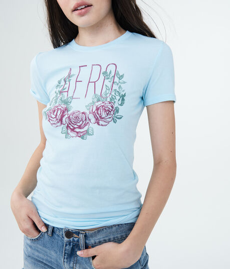 Aero Rose Wreath Graphic Tee