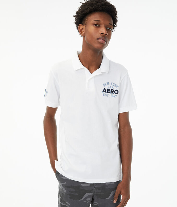 Aero New York Graphic Jersey Polo