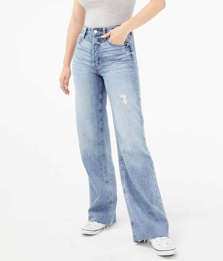 Real Denim High-Rise Wide-Leg Jeans