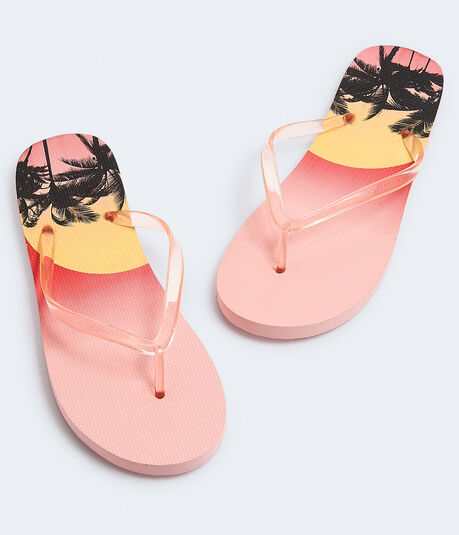 Palm Tree Sunset Flip-Flop