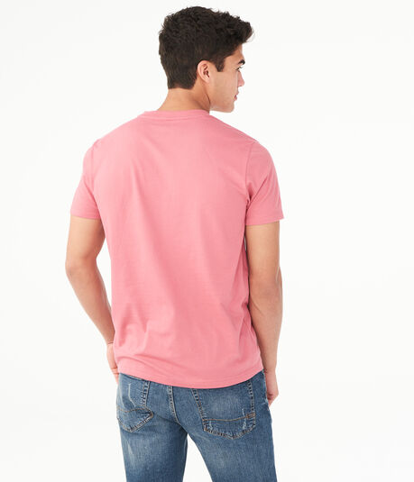 Solid V-Neck Tee***