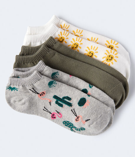 Flamingo Cacti Ankle Sock 3-Pack