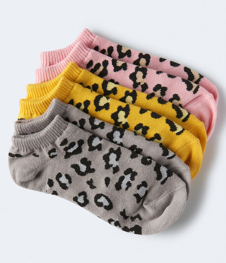 Leopard Ankle Sock 3-Pack***