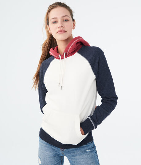 Americana Colorblock Pullover Hoodie