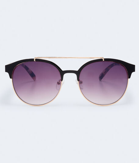 Round Top-Bar Sunglasses
