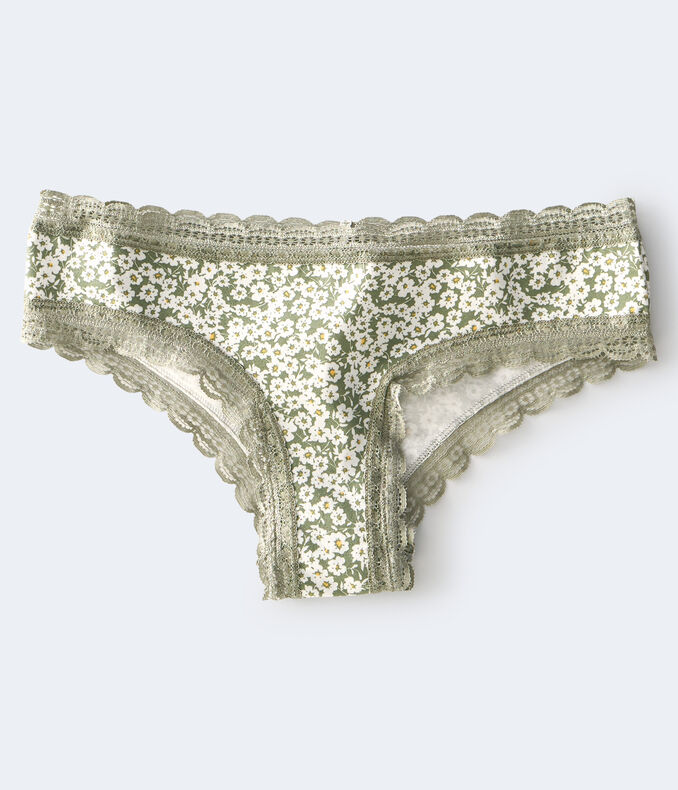 Ditsy Floral Lace-Trim Cheeky