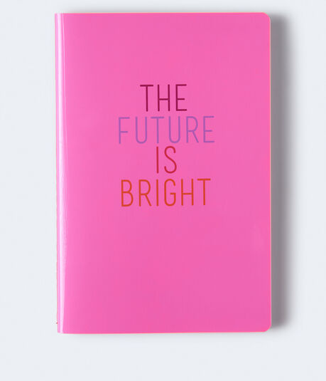 The Future Is Bright Bound Notebook