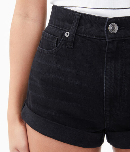Real Denim High-Rise Mom Shorts