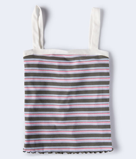 Seriously Soft Striped Square-Neck Tank