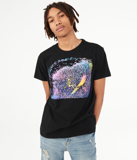 Rainbow Surfer Graphic Tee
