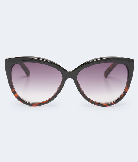 Oversized Tortoiseshell Cateye Sunglasses