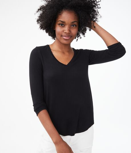 Long Sleeve Seriously Soft V-Neck Tee
