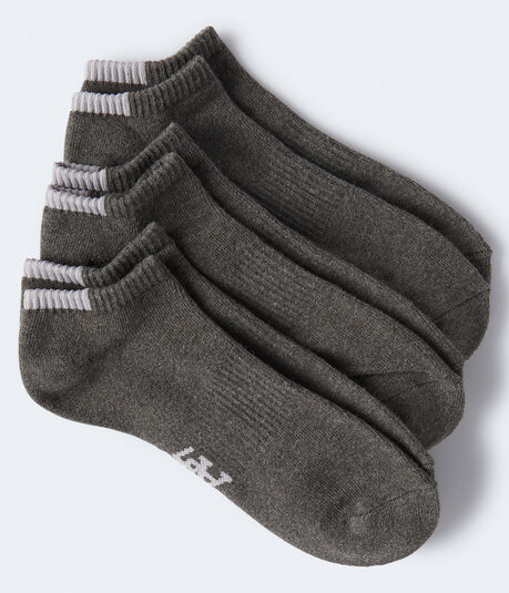 3-Pack Solid Ankle Socks