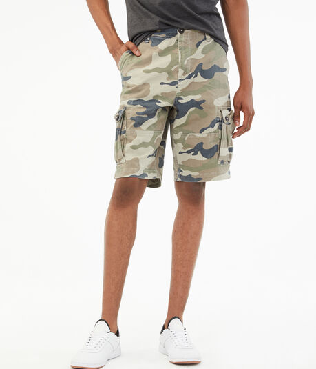 "Camo 10.5"" Stretch Cargo Shorts"