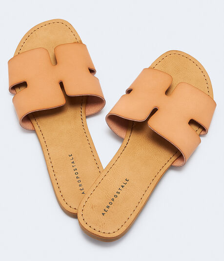 Notched Slide Sandal