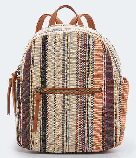 Woven Stripe Mini Backpack