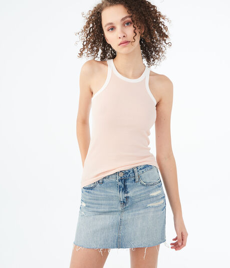 Seriously Soft High-Neck Ringer Tank