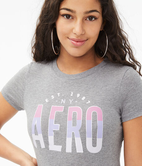 Ombré Colorblocked Aero Graphic Tee