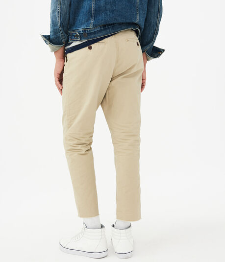 Solid Relaxed Cropped Pants