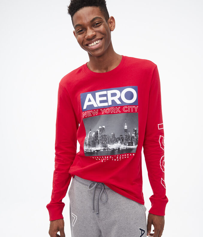 Long Sleeve Aero New York City Graphic Tee