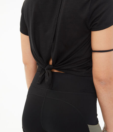 Tie-Back Cropped Tee