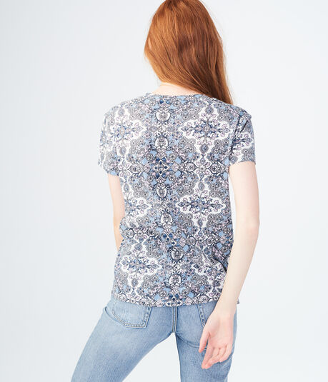 Seriously Soft Floral Choker Relaxed Tee