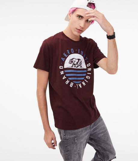 Aero Original Brand Bear Graphic Tee